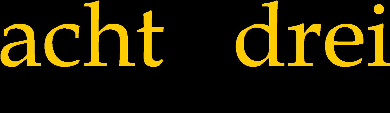 Logo von 8Komma3